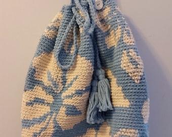 """Mochila wayuu """"lookalike""""  bogo style crocheted bag"""