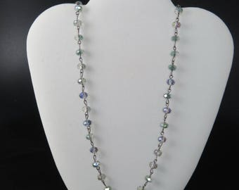 Aurora Crystal Chain Necklace