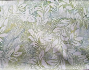 Green Batik 3/4 yard 100% cotton
