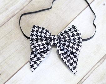 Houndstooth Headband/Bow clip