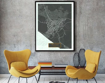 TRUJILLO Peru CANVAS Large Art City Map Trujillo Peru Art Print poster map art jt JackTravelMap