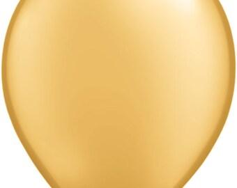 """15 or 30 - 11"""" Gold Balloon"""