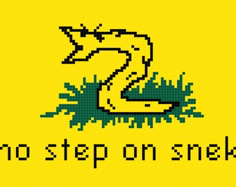 "PDF: ""No Step on Snek"" Cross Stitch Pattern"