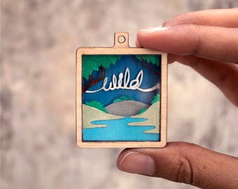 Wild - Paper cut pendant - Paper jewellery - Fashion - Papercut - art - Papercutting - Paperart - Handcut - Papercraft - NVillustration