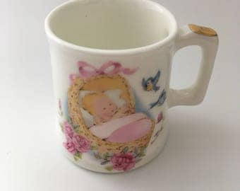 Miniature Jubilee Fine Bone China Christening Mug