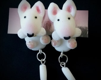 English bull terrier earrings