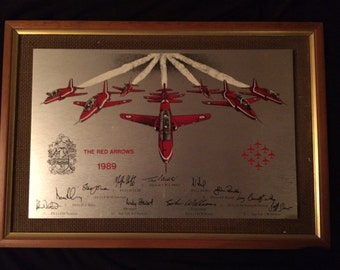 The Red Arrows Team 1989  -  Commemorative plaque