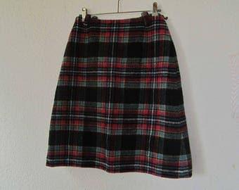 Plaid a line skirt | Etsy