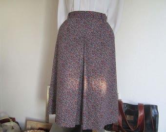 Vintage 60s skirt skirt high waist Mille fleurs S