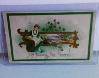 Vintage 1917 St. Patrick's Day Postcard