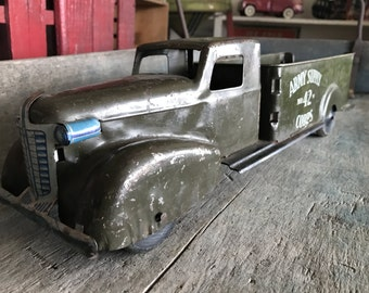 Army Supply Corps No. 42 Toy Truck |  Pressed Steel Wyandotte Toys 1930s Truck |  17 Inch Army Supply Truck