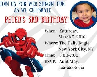 Spiderman Birthday, Spiderman, party, spiderman invitation, spiderman birthday party, spiderman digital invitation, spiderman pdf jpg invite