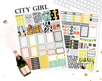 New York stickers, Printable Planner Stickers, Printable weekly kit, City girl, use with Erin Condren, Urban, Retro, Big City, Travel, SALE