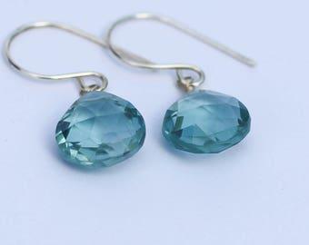 March Birthstone, Natural Aquamarine Earrings, Natural Aquamarine Jewelry