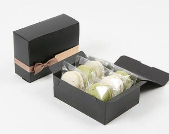 5 Black small gift boxes,wedding favor boxes,bridal shower favor boxes,large gift box,clothes gift box,cookie gift box,birthday gift box