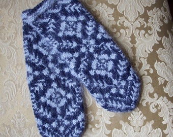Hand knit wool mittens, knitted mittens, wool mittens, knit mittens, winter mittens women