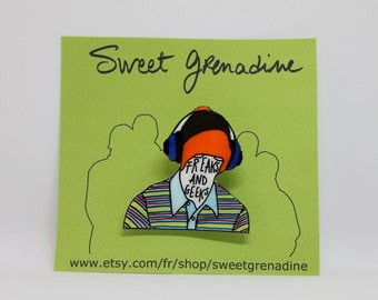 "Freaks And Geeks ""BILL HAVERCHUCK"" Shrink Plastic Brooch"