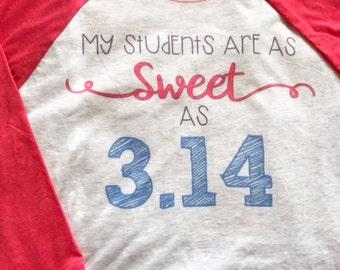 Pi Day Teacher Tee, teacher t-shirt, classroom shirt, pi day