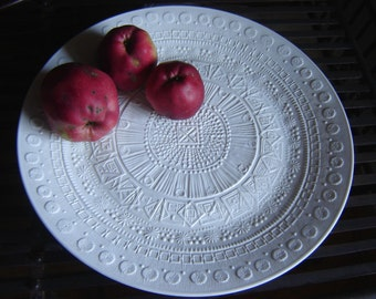 Big wall plate porcelain Rosenthal design - M. Freyer