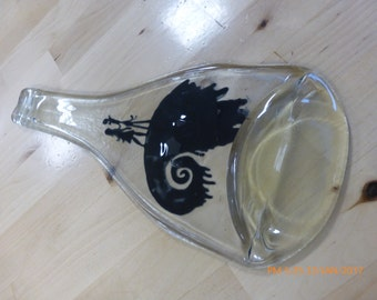 Melted Glass Bottle- Nightmare Before Christmas