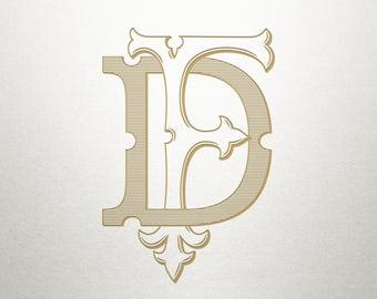 Interlocking Monogram Design - DF FD - Interlocking Monogram - Vintage