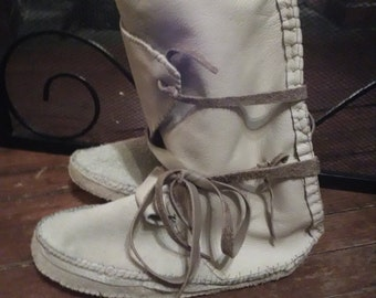Elk Rider Trading Post Mountain Man Rendezvous High Top Moccasins