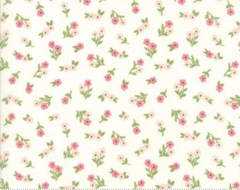 Floral Posies in White from the Sugar Pie Collection by Lella Boutique for Moda