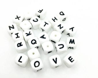 Personalized accessories (name or other) - letters of alphabet silicone or plastic