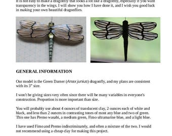 Dragonfly Cane Tutorial