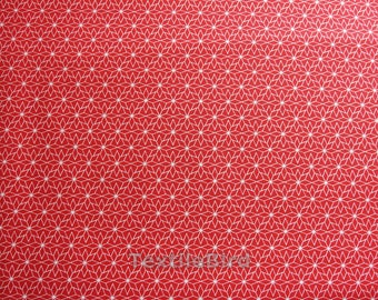 Nordic Star Red cotton canvas - long quarter