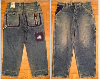 MASS jeans vintage baggy jeans 90s hip-hop clothing, 1990s hip hop, OG, gangsta rap, size 36