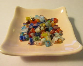 Colorful Tiny Millefiori Beads, Approx. 50 pcs.