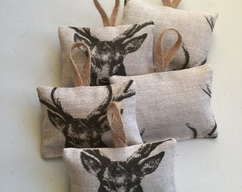 Stags hanging lavender pouch