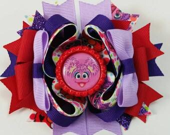 Abby Cadabby Bow, Abby Cadabby Boutique Bow, Abby Cadabby birthday, toddler hair bow, baby hair bow
