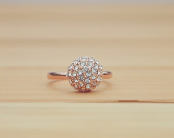 CZ Women's Engagement Ring - Wedding Ring - Anniversary - Rose Gold Filled - Promise Ring - For Her - Gifts for Girlfriend - Bridesmaid Gift