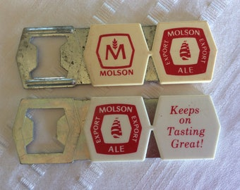 Vintage Molson export Ale advertising beer Bottle special event opener barware bar decor