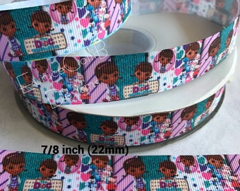 "7/8""Doc Mcstuffins inspired Ribbon"