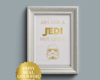 Aim Like A Jedi / Star Wars Bathroom Decor / Funny Bathroom Signs / Star  Wars
