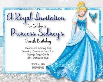 DIGITAL* Cinderella Birthday Party Invitation