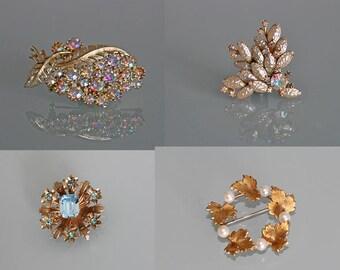 Vintage Coro Brooch, Baroque Pearl Brooch, Krementz Brooch