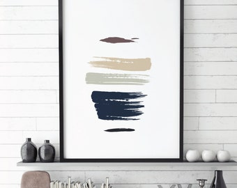 Abstract Painting, Minimal Painting,Stripes, Art & Collectibles,Digital Prints, Sage Green, Home Decor, Abstract Art, Trending, New Items