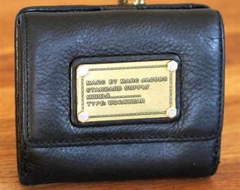 Vintage Marc Jacobs Men's Wallet - Black Leather Wallet - Mens Leather Wallet, Credit Card Wallet, Leather Wallet & Money Clips