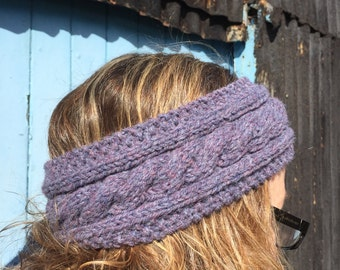 Heather  Hand Knitted Headband,Ear Warmer,Cable Pattern,Handmade,Hand Knitted,Knitted Headband,Great Gift