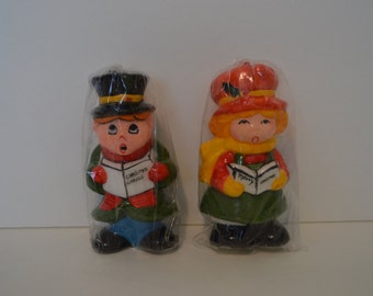 Christmas Caroler Candles!  NEVER BEEN USED!