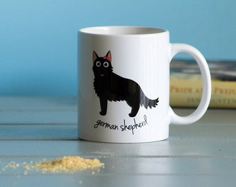 German Shepherd Mug (black - girl)