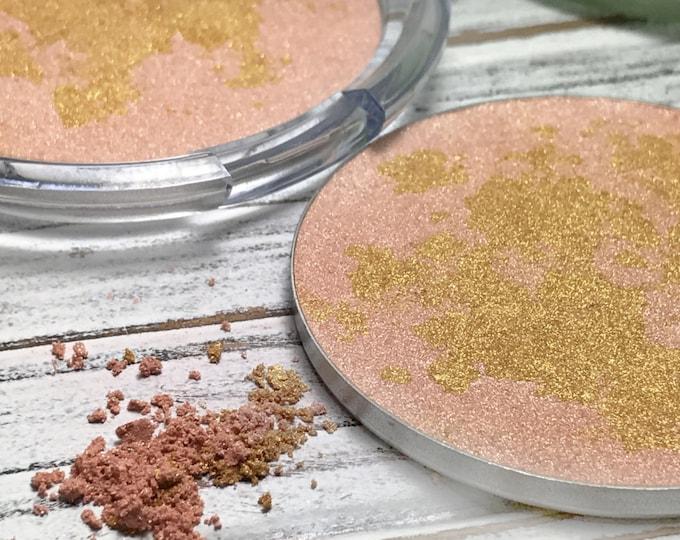 Celestial Event Pressed Gold Bronzer-Vegan Bronzer-Organic Pressed Gold Bronzer-57 mm Cruelty Free-Organic Gold Bronzer, Bronzer