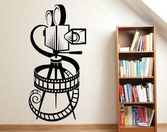 Movie Camera And Film Strip Vinyl Wall Decal