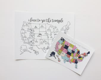 LDS Temple Map Scripture Card