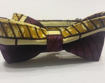 Men's Multicolored Striped Bowtie