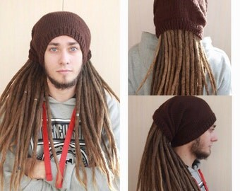 Hats for dreads. Knitted hat. Winter hat